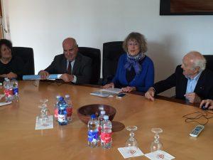 Franca Arenza, Luis Alejandre, La Presidenta del MUMA Paola Profumo y Mario Cappa.